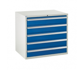 Euroslide cabinet with 5 drawers in blue