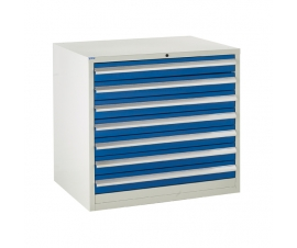 Euroslide cabinet with 7 drawers in blue