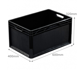 600 x 400 black lightline euro container