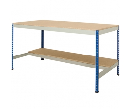 Workbench with half undershelf