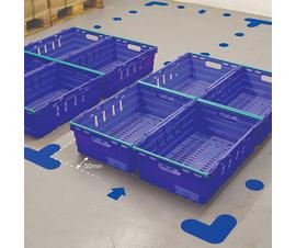 Floor signals in blue