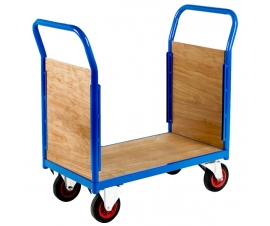 Platform truck with double ply end