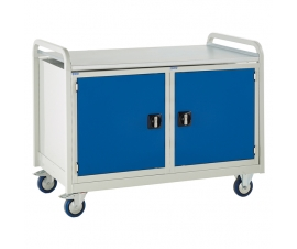 Double Tool Cabinet Trolley with steel worktop