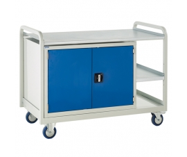 Single 900mm Cabinet Trolley with 1 cupboard and a steel top