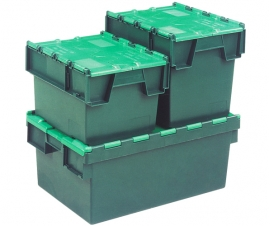 Green Tote Boxes and Storage Crates