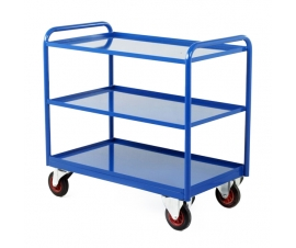 Industrial Tray Trolley in Blue