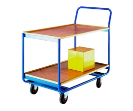 Trolley with 2 plywood shelves