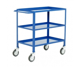 3 Tier Tray Trolley In Blue