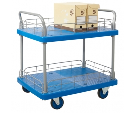 Two Tier Trolley With Wire Surround
