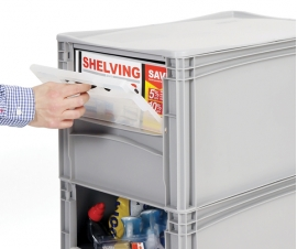 Plastic Picking Bins and Open Fronted Storage Boxes