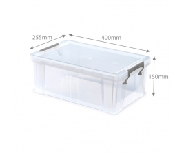 Clear Plastic Storage Boxes - 10 Litre Capacity