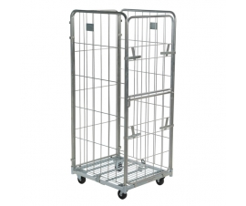 4 Sided Demountable Roll Cage with Half Drop Down Door
