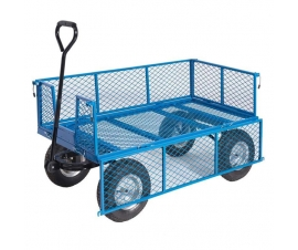 Mesh Base Platform Truck With Drop Down Mesh Sides