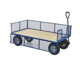 Plywood Base Platform Truck With Mesh Sides
