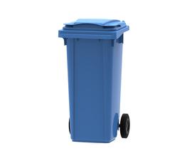 Blue 120 litre wheelie bin