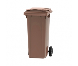 Brown 120 litre wheelie bin