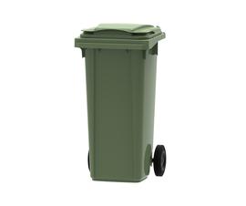 Green 120 litre wheelie bin
