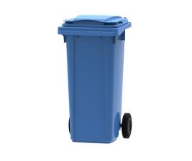 Blue 140 litre wheelie bin