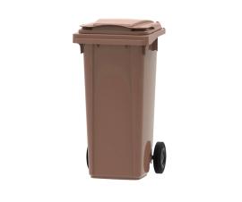 Brown 140 litre wheelie bin