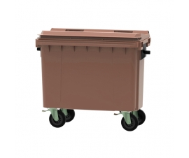 Brown 500 litre wheeled bin
