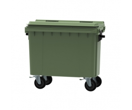 Green 500 litre wheeled bin