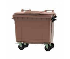 Brown 660 litre wheeled bin