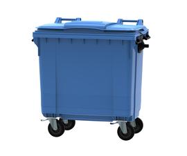 Blue 770 litre wheeled bin