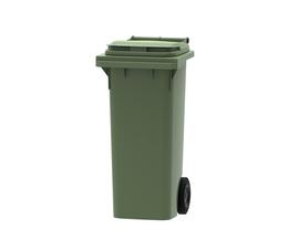 80 litre wheelie bin in green