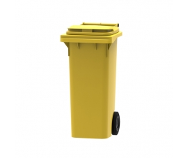 80 litre wheelie bin in yellow