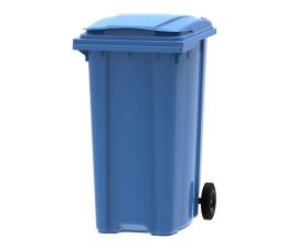 Blue 360 litre wheelie bin