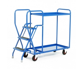 Step Tray Trolley With 3 Steps