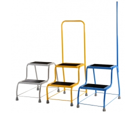 Robust Coloured Portable Steps Group