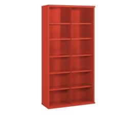 Steel Bin Cabinet In Red