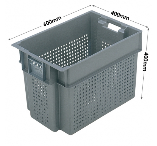 Euro Stacking and Nesting Ventilated Container 70 Litres