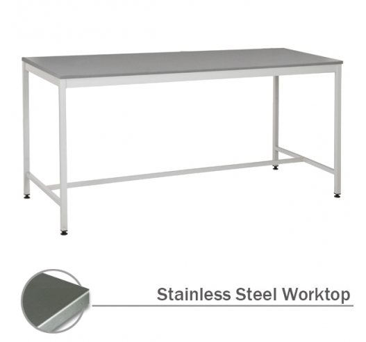 Workbench with Stainless Steel Worktop
