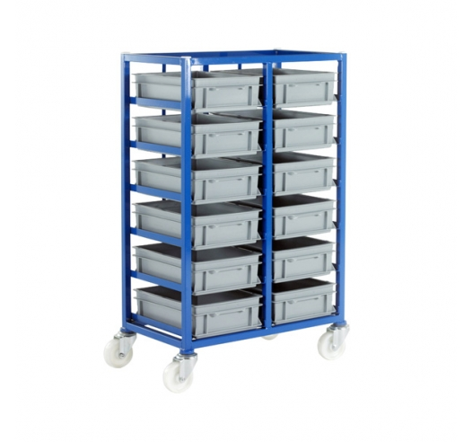 CT216P Small Parts Storage Tray Rack With 12 Euro Containers