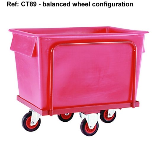 CT88 Large Plastic Container on Wheels in Red