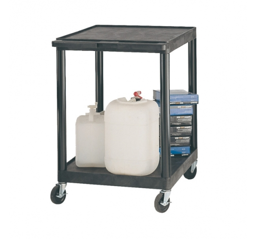 Strong Plastic Shelf Trolley with 2 Shelves