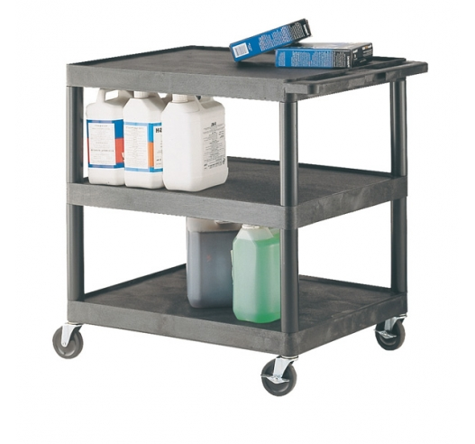 Strong Plastic Shelf Trolley with 3 Shelves