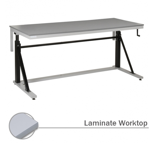 Adjustable Cantilever Workbench with Laminate Worktop