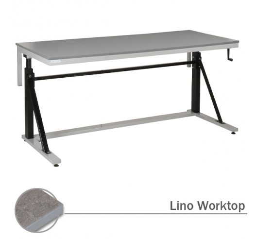 Adjustable Cantilever Workbench with Lino Worktop