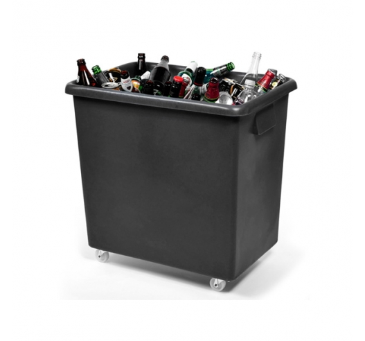 Black bar truck ideal as bottle skips and bar trolleys