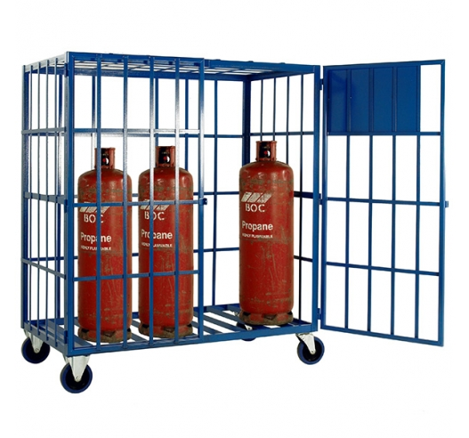 Cylinder Storage Cage With Wheels