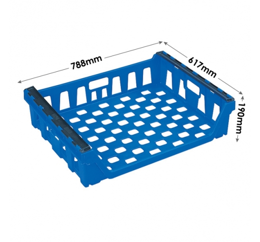 Plastic Stacking and Nesting Bread Trays