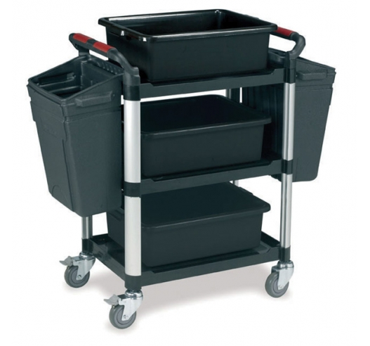 3 Shelf Trolley with Accessories
