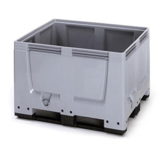 Plastic Pallet Box with skids/runners - Economy Range