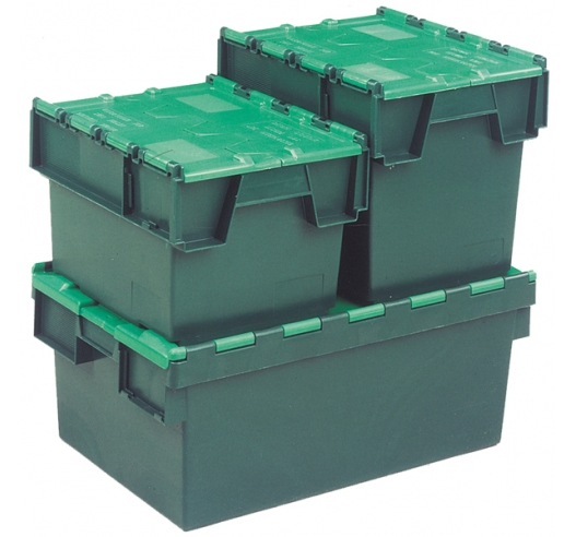 Attached lid container group