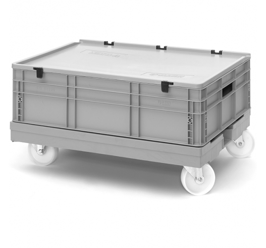 Low price dolly for euro containers - 80cm x 60cm
