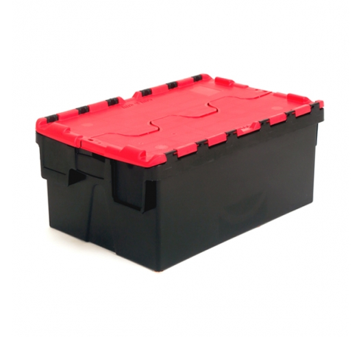 Red and black totes with 40 litre capacity