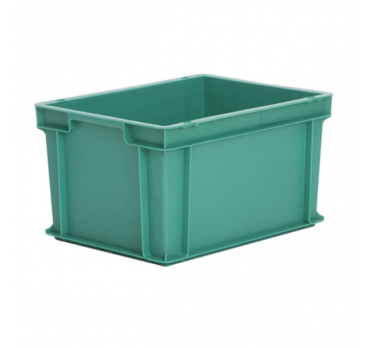 Stackable plastic Euro container in green